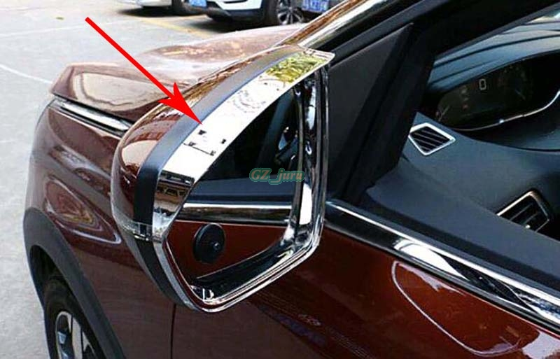 buy abs chrome rearview mirror side mirror eyebrow cover trim 2pcs for peugeot. Black Bedroom Furniture Sets. Home Design Ideas