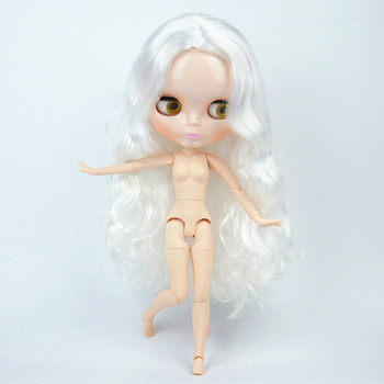 Factory Blyth Doll White hair wave hair Blyth Dolls Joint Body DIY BJD toys Fashion 19 Joints toy for Girl