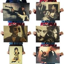 6 стилей Leon профессиональный классический фильм плакат крафт-бумага Бар плакат ретро плакат декоративной живописи стикер на стену