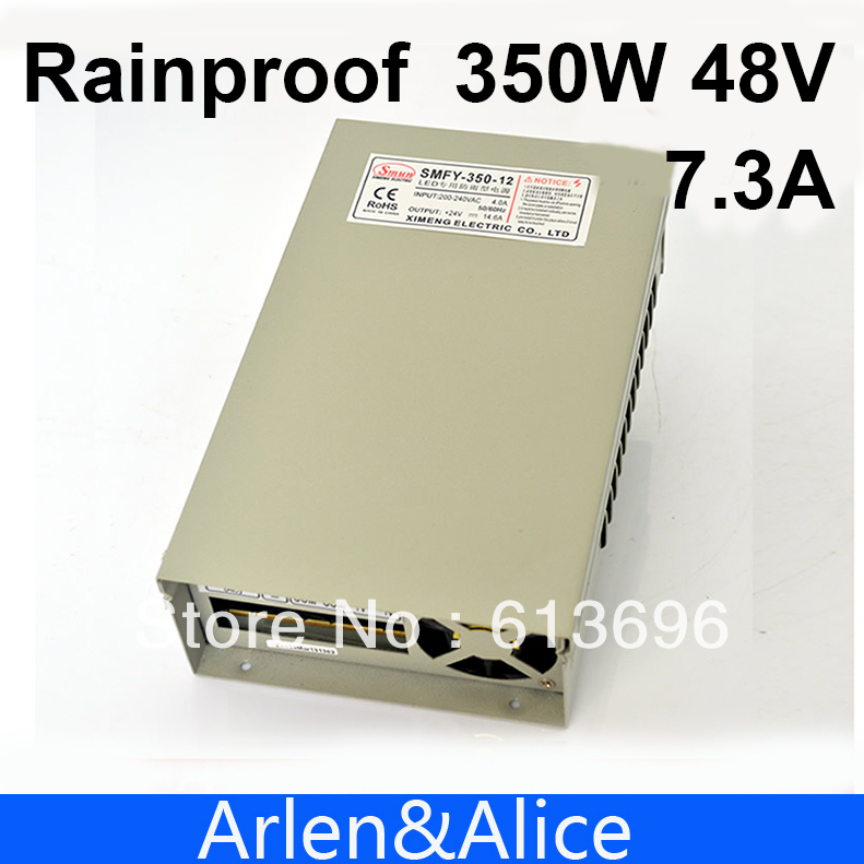 350W 48V 7.3A Rainproof outdoor Single Output Switching power supply smps AC TO DC for LED meanwell 12v 350w ul certificated nes series switching power supply 85 264v ac to 12v dc
