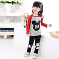 Children's clothing child set spring and autumn female child set T-shirt long-sleeve top trousers baby twinset