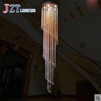 T Новый вращающийся Роскошные Современная подвеска Кристалл Света для высокой посадкой лестница модные креативные Лампы для мотоциклов до