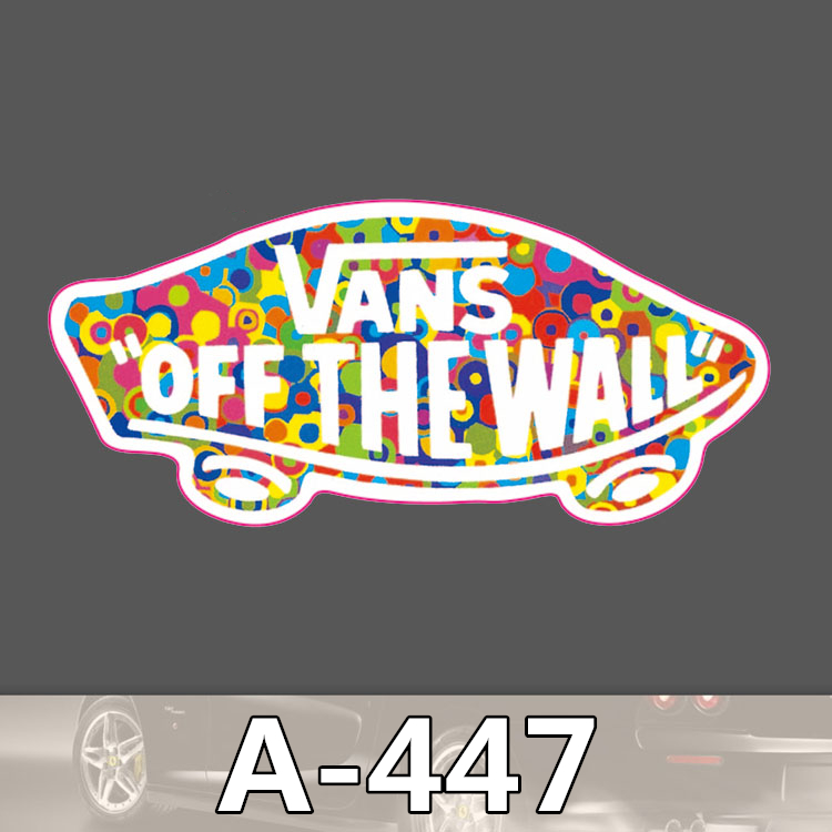 A-447 Vans Shoes Brand Waterproof Fashion Cool DIY Stickers For Laptop Luggage Fridge Skateboard Car Graffiti Cartoon Stickers