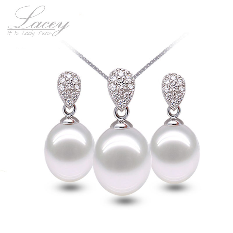 Fine freshwater pearl jewelry set vintage jewelry sets for women,wedding white natural stone jewelry earrings sets wedding gift