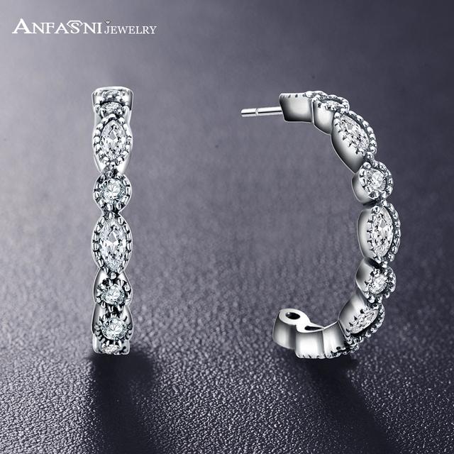Anfasni 925 prata esterlina sedutor brilliant marquise brincos mulheres engagement jóias femme brincos ano novo presente pser0060-b