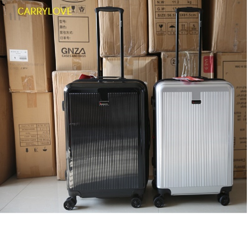 Stylish simplicity Large volume 20 24 28 inch size Ultralight high quality PC Rolling Luggage Spinner