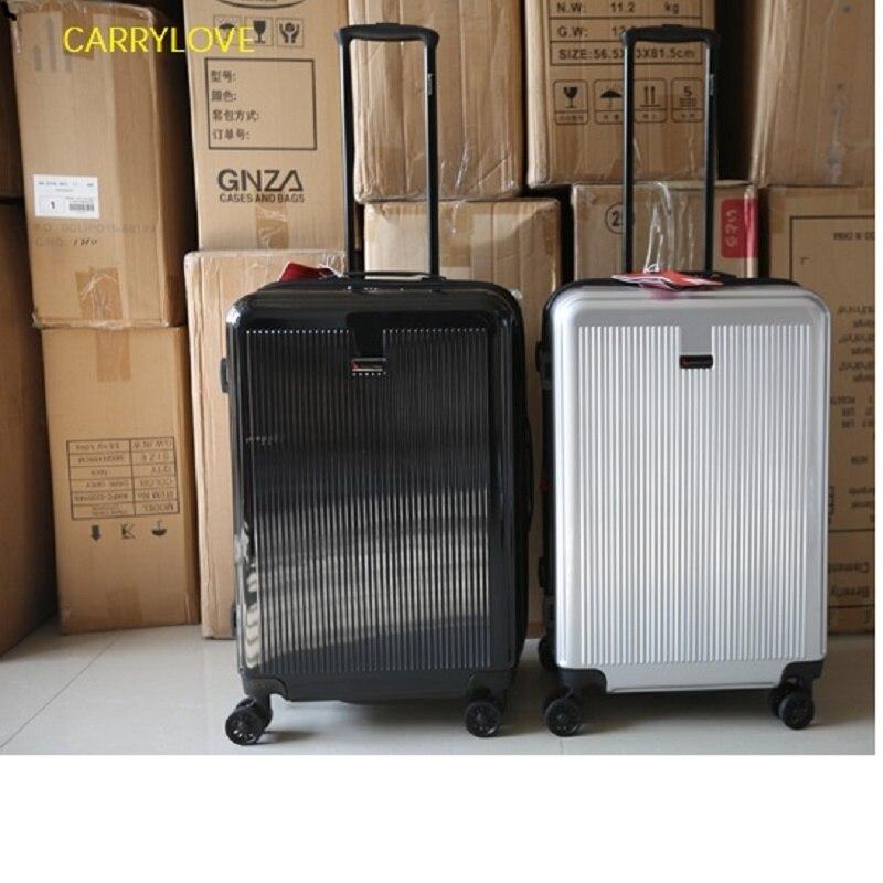 สไตล์เรียบง่ายขนาดใหญ่ 20/24/28 นิ้วขนาด Ultralight คุณภาพสูง PC Rolling กระเป๋าเดินทางยี่ห้อ Travel กระเป๋าเดินทาง-ใน กระเป๋าเดินทางแบบลาก จาก สัมภาระและกระเป๋า บน   1