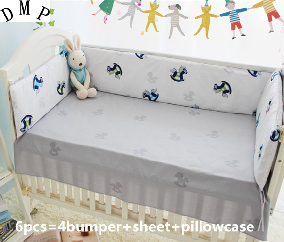 Promotion! 6PCS Baby bed crib piece bedding set baby bedding triangle set Bumper filler bed sheets (bumper+sheet+pillow cover) promotion 6pcs baby bedding set curtain crib bumper baby cot sets baby bed bumper bumper sheet pillow cover