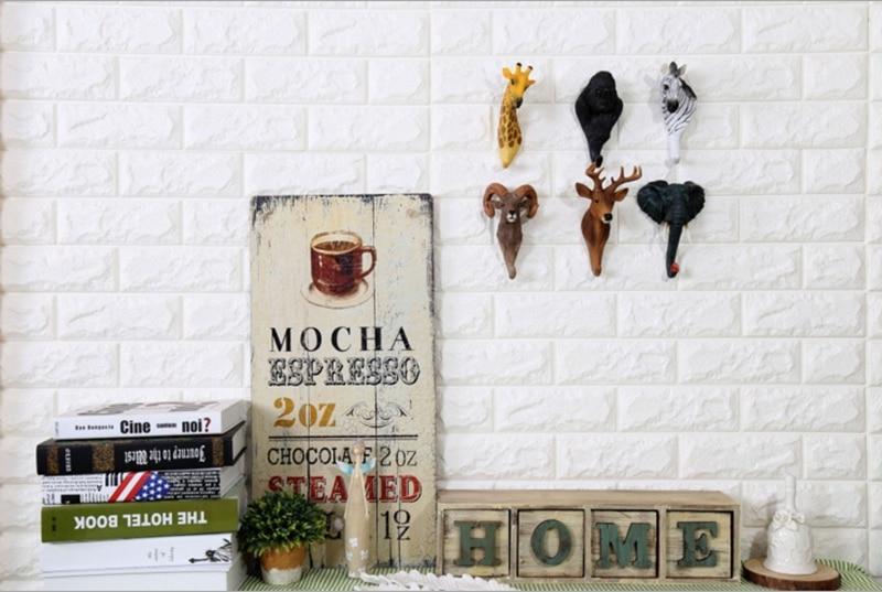 home cafe wall hook animal shape hook profile (2)_