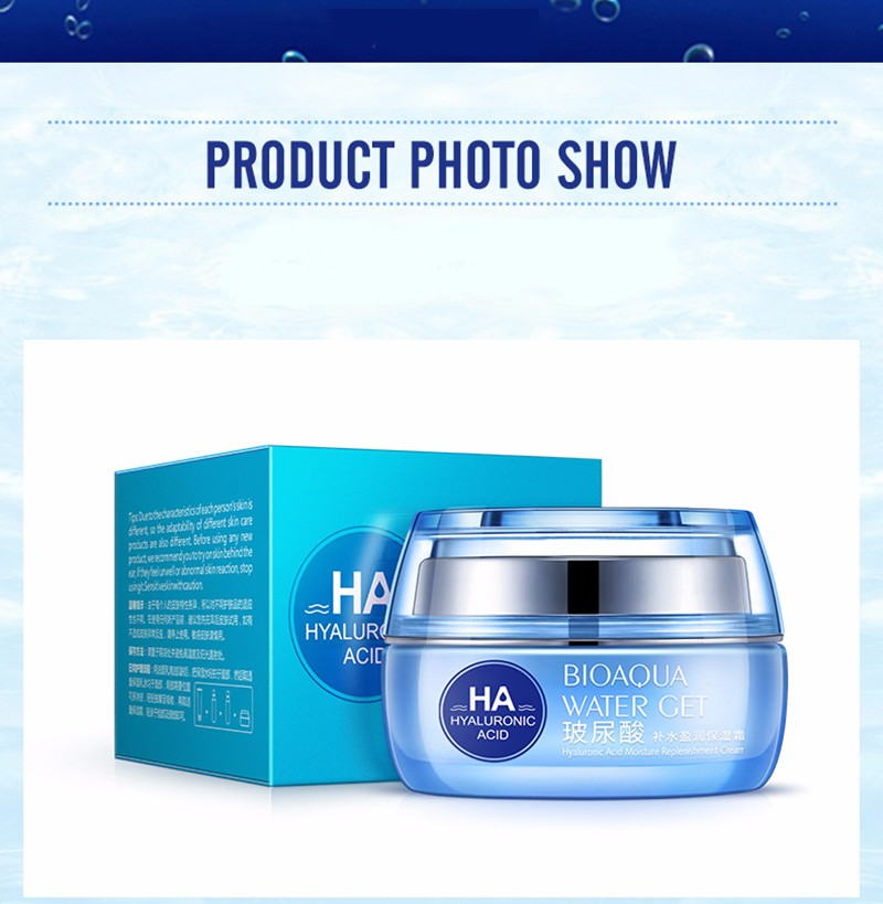 Hyaluronic Acid Face Moisturizer Cream Deep Hydrating Anti-Wrinkle Face Cream Korean Facial Day Cream Cosmetic For Dry Skin 50g 17