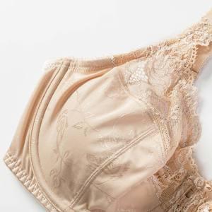 Image 4 - المرأة الجمال الدانتيل غير مبطن كامل الشكل Underwire مينيميزر الصدرية حجم كبير الصدرية 34 44 DD E F G H