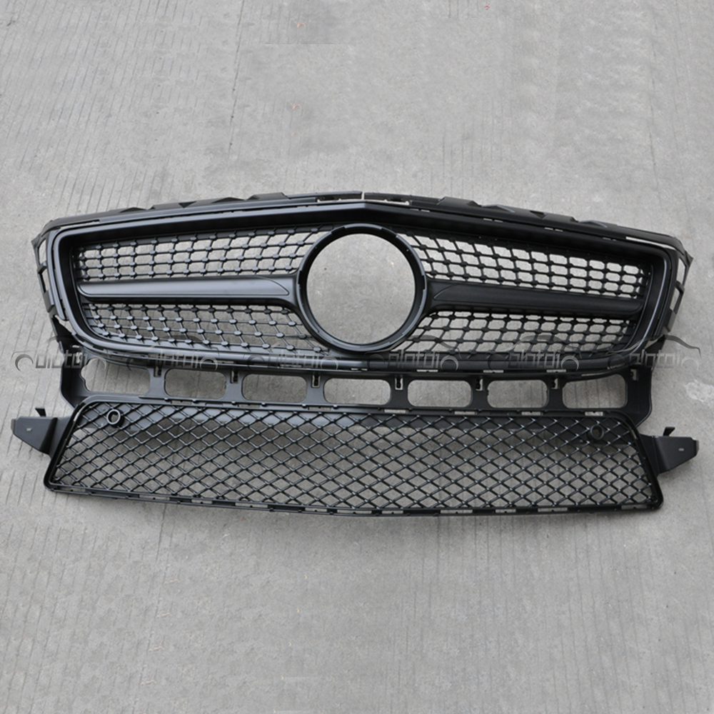 OLOTDI for Mercedes 2012-2014 CLS CLASS <font><b>W218</b></font> Diamond Replacement Matt Black Front Kidney <font><b>Grill</b></font> Mesh image