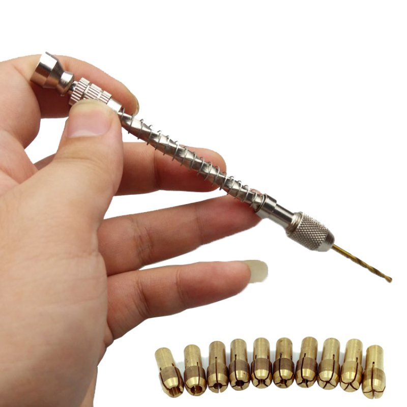 Wood Spiral Hand Drill&Spring Manual Wire Twisting Drilling Jewelry Watch Repair Jewelry Tools Beading Reaming Hand Twist Drill semi automatic spiral drill hand push drilling with spring beading jewelry pin vise tool with 20cps 0 3 1 6mm twist drill bits