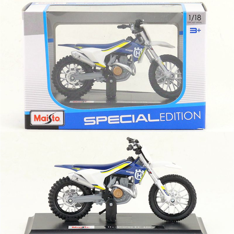 1:18 Alloy Motorcycle Model,high Simulation Metal KTM Husqvarna FC 450 Cross-country Toys,free Shipping