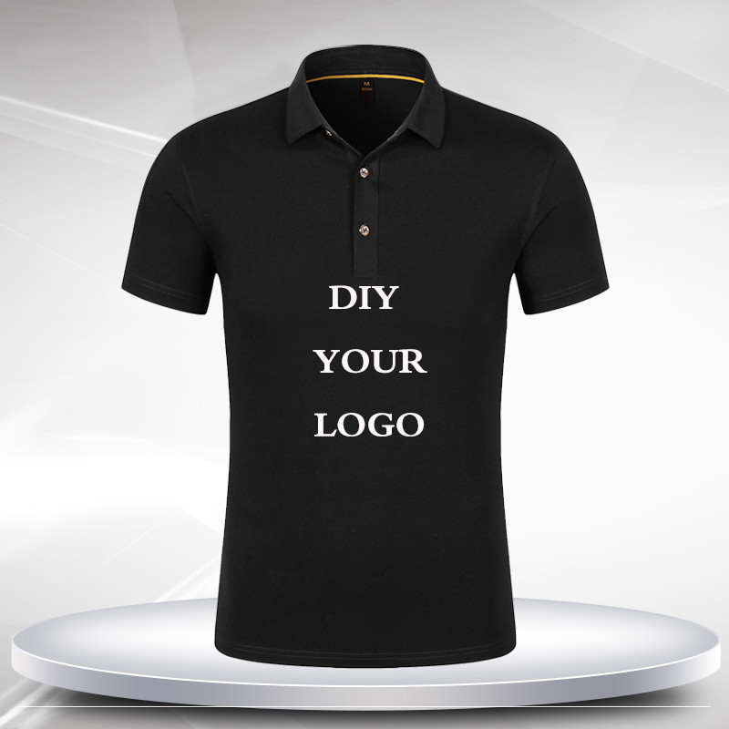Customized   Polo   Shirt Print Your Own Design Photo Text Logo High Quality Team Company Casual Cotton Short Sleeve Shirts Tops