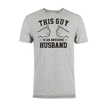 LUSLOS  An Awesome Husband T Shirt Wife To Gift For Him Best Ever Comfortable T-Shirt