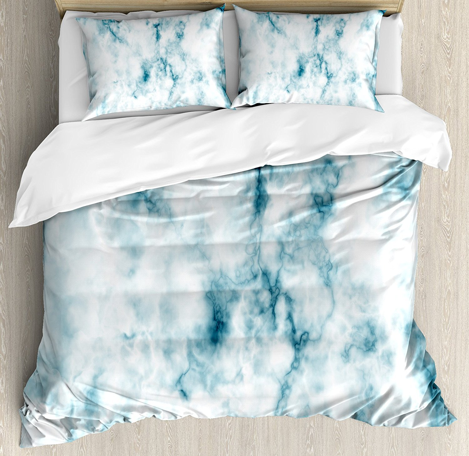 Nature Duvet Cover Set Fluffy Cloud Skyline Like Marble Motif With Grunge  And Retro Features Art Image Print 4 Piece In Bedding Sets From Home U0026  Garden On ...