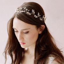 New Gold Tiara Wedding Hair Comb Vintage Style Bridal Hair Accessories Crystal Bouquet Collection Top Quality Handmade Hair Pins