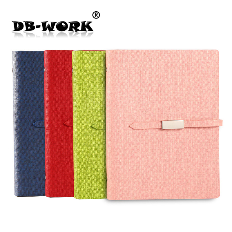 2018 The new creative long buckle notepad student diary loose a5 notebook business stationery Leather notebook 2018 a5 retro buckle loose the high grade leather notebook business notebook diary custom stationery