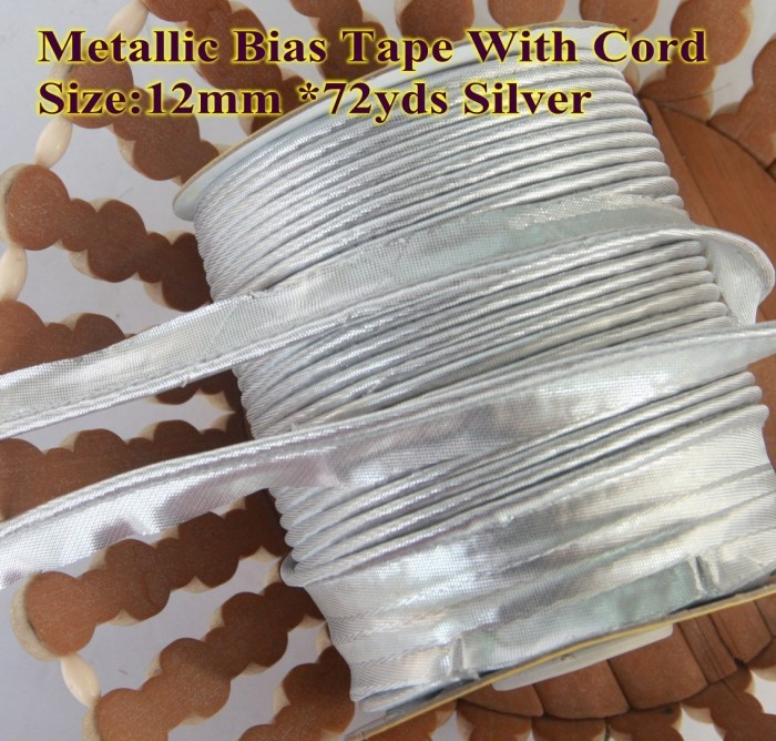Polyester Satin Bias Cord Tape Flange Piping Trim Binding