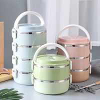 Portable Japanese Bento Box Gradient Color Thermal Insulation For Food With Containers Lunch For Kids Picnic lunchbox thermo
