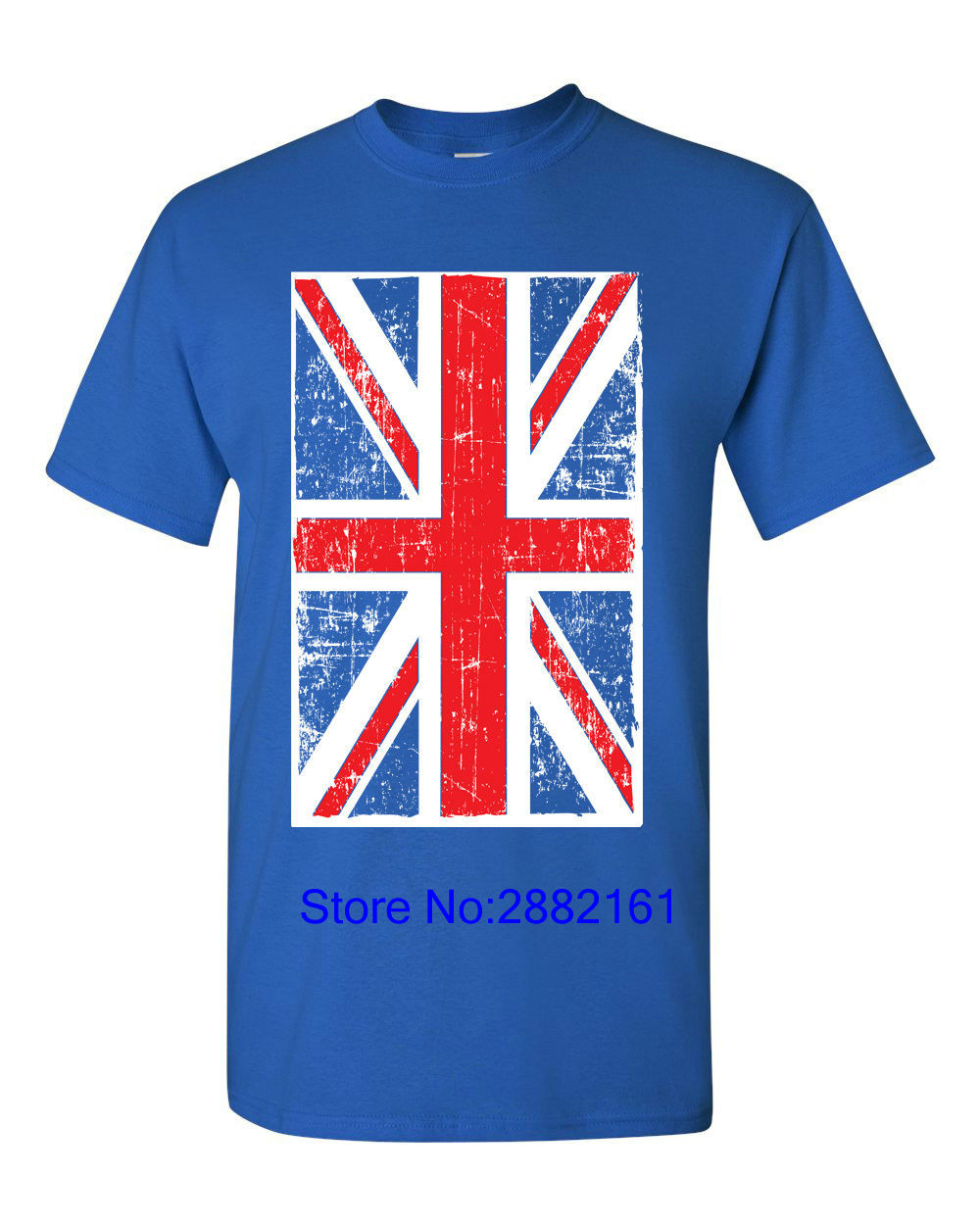 2017 New Short Sleeve Casual T-Shirt Tee British Flag Union Jack United Kingdom Flag Britain Men's Tee Shirt 1143