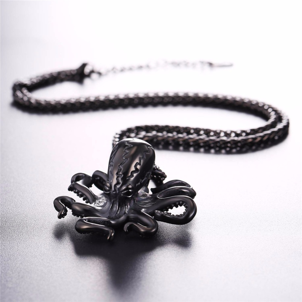 bone gdcocp octopus moon silver carved pendant sterling octopuson