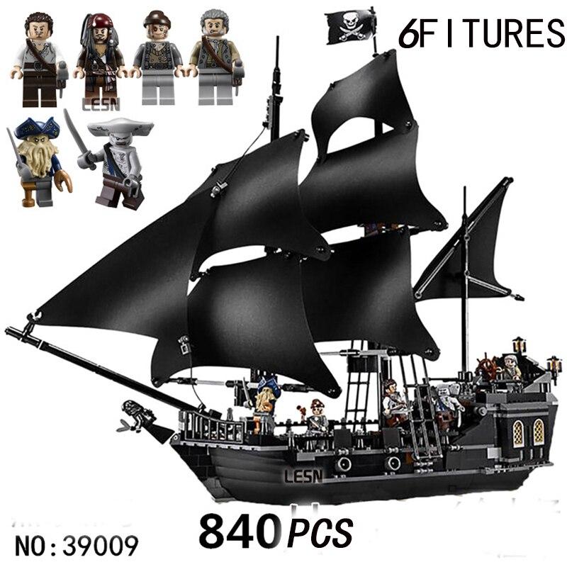 Legoed film Pirates des caraïbes série noir perle bateau bricolage jouet bateau Compatible avec les blocs de construction jouets enfant cadeau