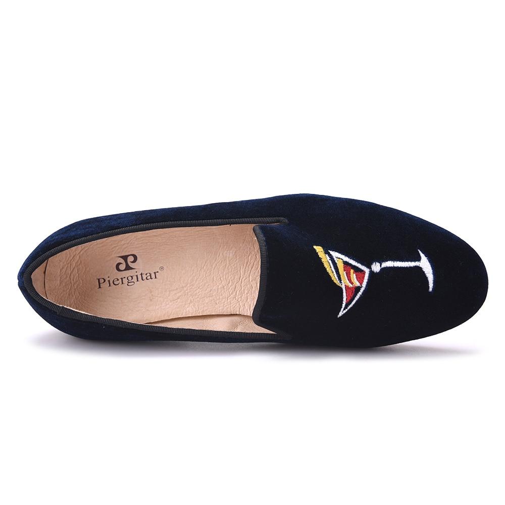 Tout nouveau style de broderie main Verre à vin Chaussures Femme Slip sur les femmes Mocassins Women » Flats printemps et d'été xNyOVQ