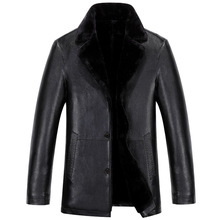 Winter Leather Jacket Men High-end Business Brand Leather Clothing Men's Thickening Warm Casual Jackets Mens JS-0805