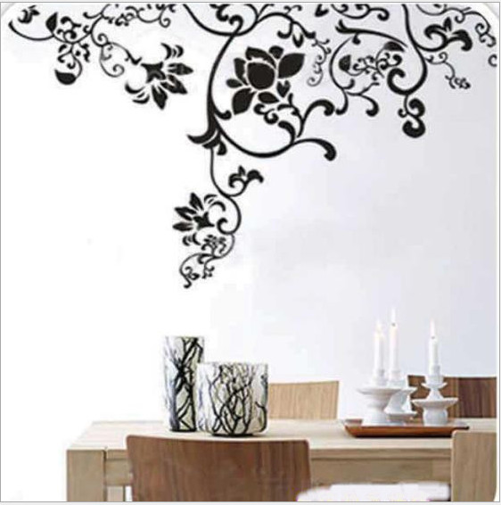 NEW Flower vine especially big DIY Art Wall Home Decor Style decal belong Own mural,Warm home Study, kitchen, bedroom, TV