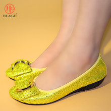 2019 Big Size Women Flats Shallow Yellow Color Shoes Woman Loafers Autumn Winter Fashion Flat Casual Comfortable Plus 38-45