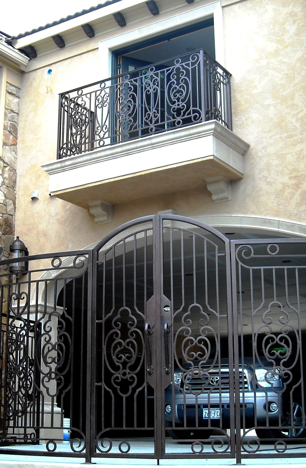 Handmade Top Villa Wrought Iron Gate One Stop Shipping To USA Hench-lg10