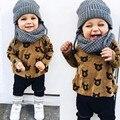 2 pçs/set Polka Dot Moda bebê Recém-nascido menina clothesBodysuit Calças Cardigan Kit Traje Desgaste Terno Infantil Roupa Da Menina Crianças
