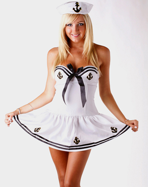 ml5415 sexy white cute sailors and sea costumes cosplay halloween costume for womenchina - Sailors Halloween Costumes