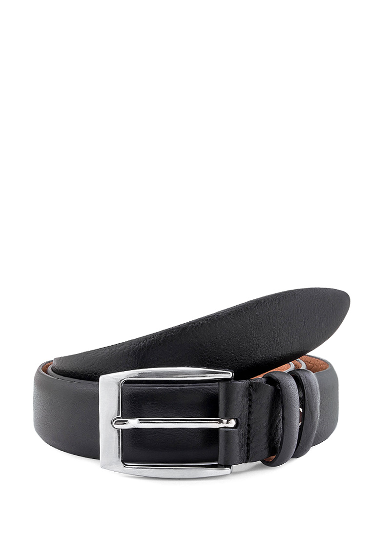 [Available from 10.11] Men's leather belt smoothly black tie front faux leather obi belt