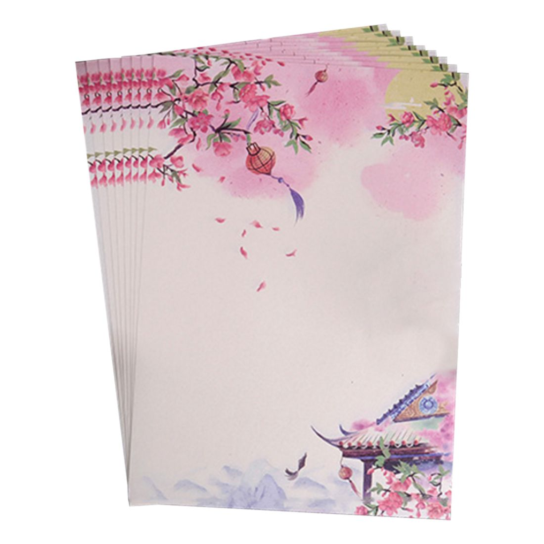 Affordable 40pcs Romantic love letter, student news envelopes, Chinese wind retro beautiful scenery envelope,pink
