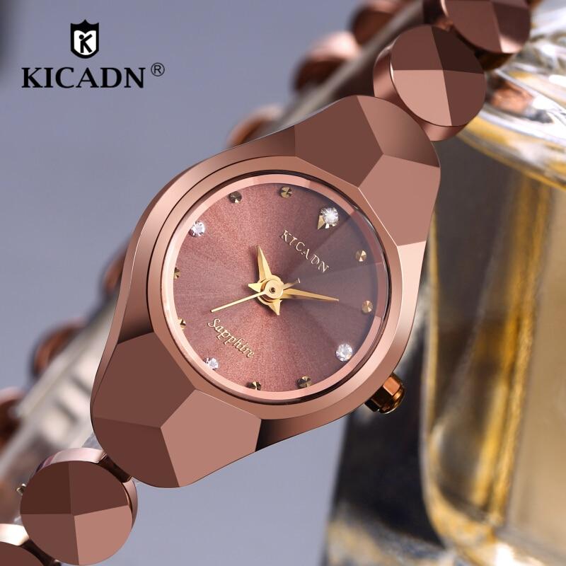 KICADN Tungsteno Relojes Reloj de Cuarzo Mujeres Pequeño Dial - Relojes para mujeres