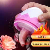 7 geschwindigkeiten Zunge Vibrator Klitoris Stimulator Nippel Sauger Brust Lecken Massager Clit Vibrator Sex Spielzeug Masturbator für Frauen