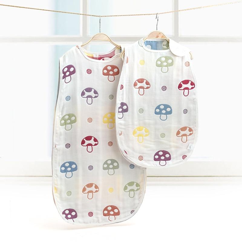 Baby Sleeping Bag Muslin Pure Cotton Sleep Sack Soft Sleeveless Vest Sleep Bag Anti Kick Quilt Saco Be Dormir Para Bebe Sacks