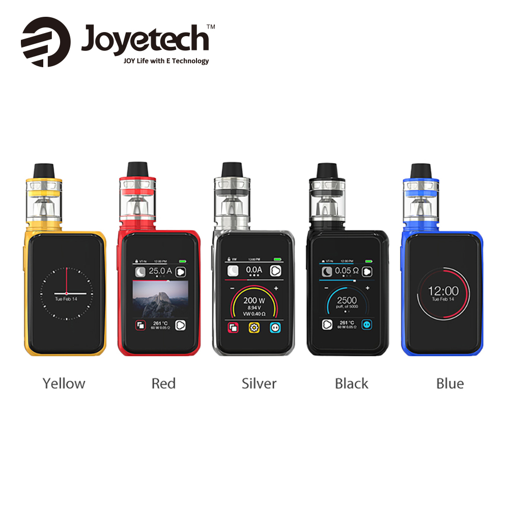 200W Original Joyetech Cuboid Pro with 4ml ProCore Aries Atomizer Touchscreen TC Kit 200W Output E-cigarette Box Mod vs Alien
