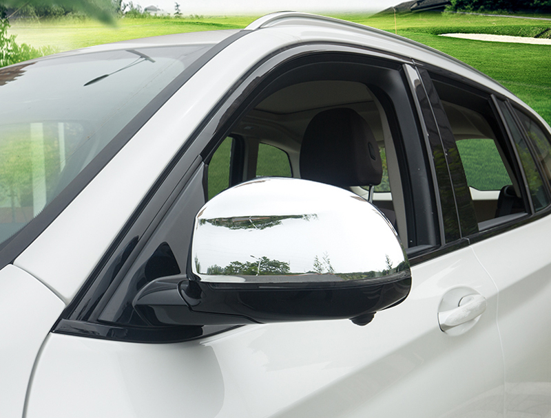 For <font><b>BMW</b></font> <font><b>X3</b></font> <font><b>G01</b></font> 2018 2019 ABS Chrome Side Door Wing Rearview <font><b>Mirrors</b></font> <font><b>Cover</b></font> Decoration Trim 2pcs Car Styling image