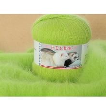 100g 2 Ball Luxury Angola Wool Yarn For Knitting Mink Fur Hairy Cashmere Hand Kint Yarn mohair wool marifetli laine a tricoter