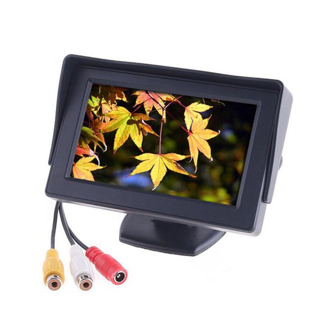De alta Definição de 4.3 Polegada TFT LCD Monitor de Visão Traseira Do Carro Noite visão Estacionamento Reverso Da Câmera 2 em 1 Câmera de Visão Traseira Do Monitor Dispositivo