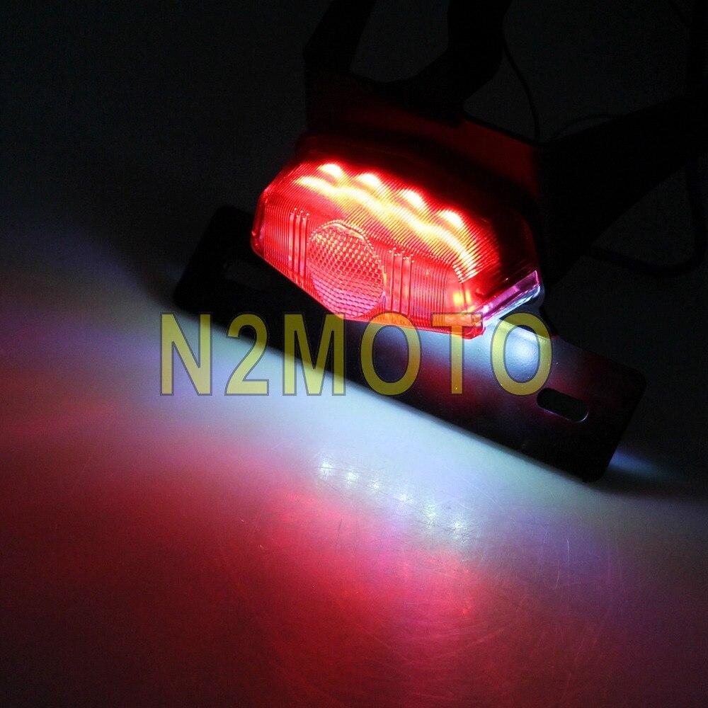 Motocicleta rojo LED Fender Eliminator luz trasera Marcos de ...