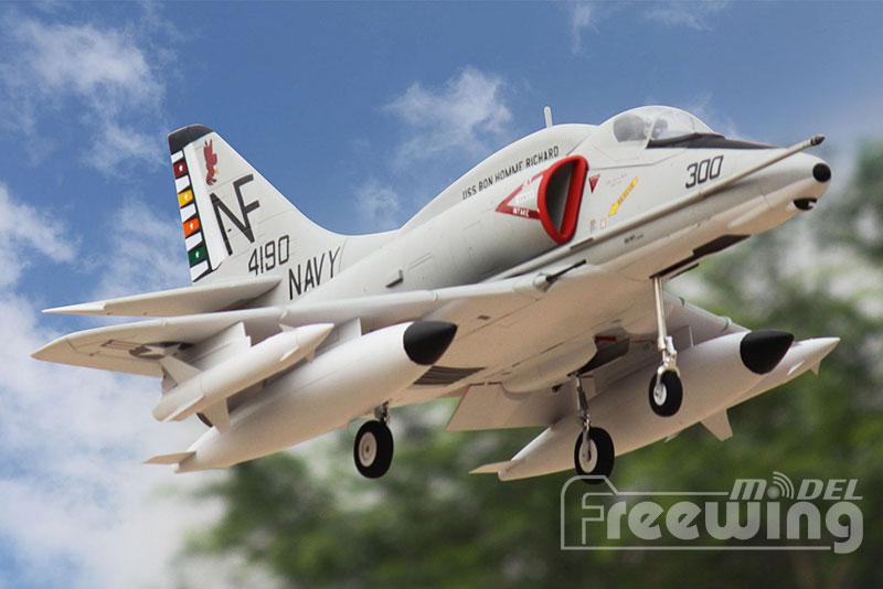 Freewing rc plane A 4E F SKYHAWK 80mm edf jet PNP