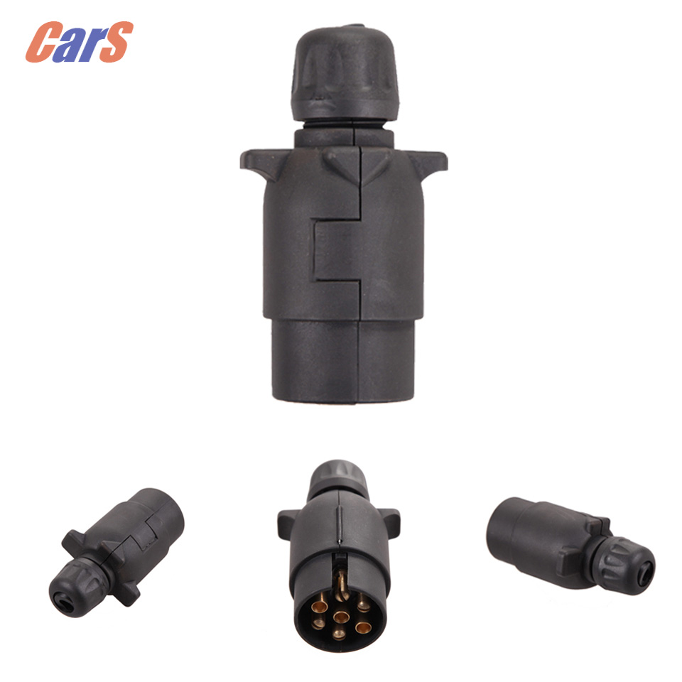 7 Pin Car Trailer Plug Socket 7 Pole Wiring Connector 12V Towbar ...