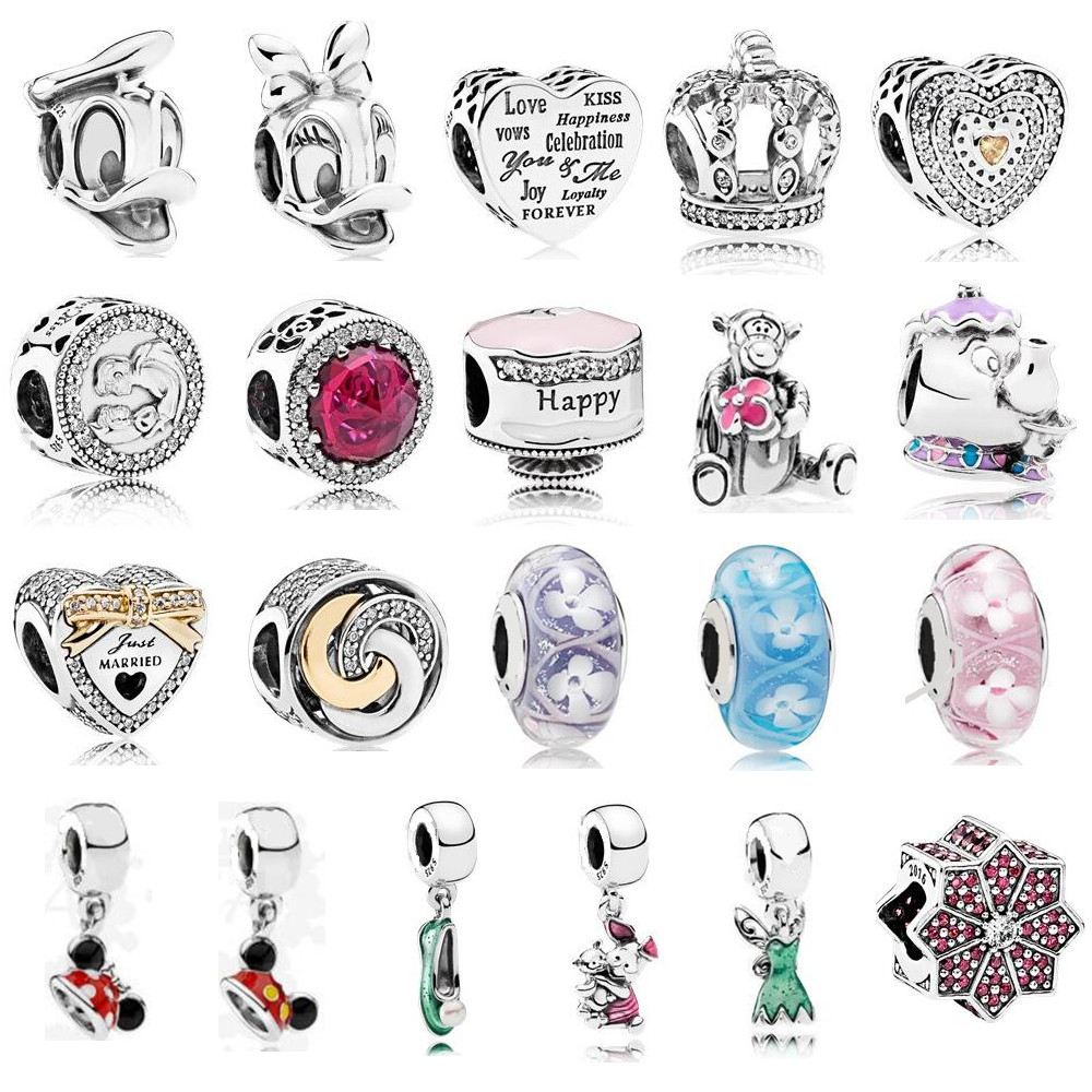 Beads & Jewelry Making Beads 2019 Summer Collection 925 Sterling Silver Beads Handbag Charms With Pink And Clear Cz Fits Original Pandora Charm Bracelet Diy Spare No Cost At Any Cost
