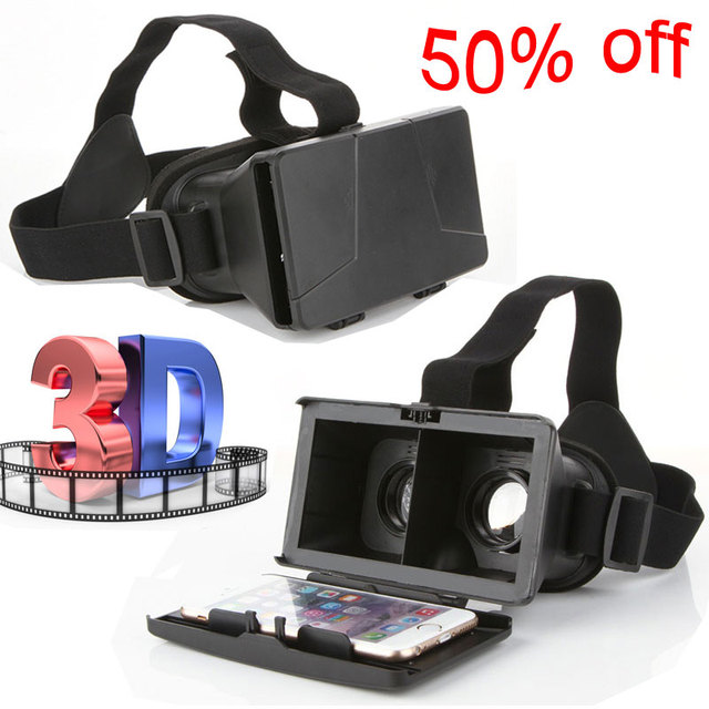 """2015 Newest Colorcross 3D Video Movie Glasses VR 3D Glasses Universal Google Virtual Reality for 4~6""""Smartphones 3D Glasses"""