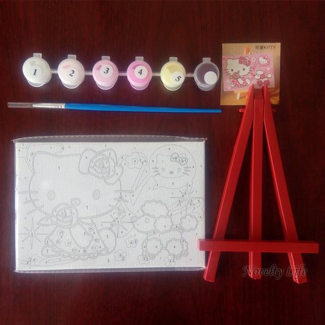 Petit cadre, peinture photo bricolage avec numéros | Décoration pour la maison, toile peinture à lhuile, peinture pour enfants, lit, chambre, salon, Art mural